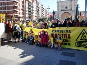 Foto del grupo de personas de distintos pueblos en la manifestación